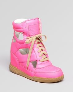 MARC BY MARC JACOBS Lace Up High Top Sneaker Wedges