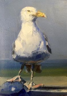 "Daily Paintworks - ""Seagull by the Sea"" - Original Fine Art for Sale - © Gary Bruton"