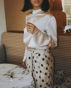 Great combination - I am all over polka dots at the moment ღ Awesome fashion clothes for stylish women from Zefinka. Mode Chic, Mode Style, Style Me, Mode Outfits, Stylish Outfits, Fashion Outfits, Fashion Trends, Fashion Clothes, Ladies Fashion