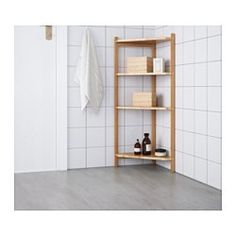 IKEA - RÅGRUND, Corner shelf unit, , Bamboo is a hardwearing natural material.