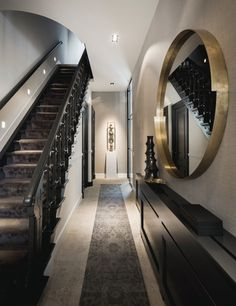 Home Bedroom Design, Townhouse Interior, Hallway Designs, Hall Design, House Stairs, Industrial House, Luxury Interior, Home Decor Accessories, Home And Living