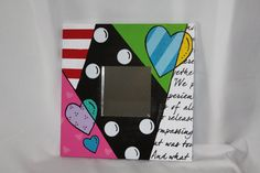 Fun Mirror. This would be so cute in a girl's bedroom! My amazing friend Sherri made this.