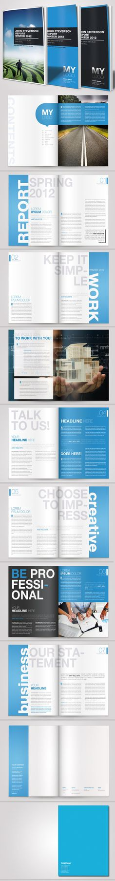 A4 Business Brochure Vol. 03 by Danijel Mokic via #Behance | #GraphicDesign #Brochure