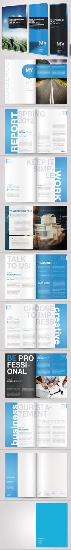 A4 Business Brochure Vol. 03 by Danijel Mokic, via Behance