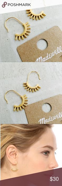 Madewell Succulent Earrings Succulent Earrings - SUBTLE STUNNERS Gold ox  PRODUCT DETAILS Bold earrings with some serious character. Spiky standouts. * Diameter: 24mm x 30mm. * Brass. * Care instructions: Clean your jewelry after each wearing with a soft cloth. * Import. Madewell Jewelry Earrings