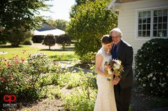 Elizabeth + Patrick's Wedding at Lenora's Legacy. Photo credit: Cureton Photography Bride and her father before the ceremony.