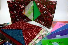 Terapia do Papel- Pasta para guardar papéis de origami em tecido-orinuno