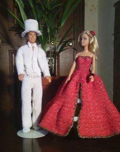 Barbie Gowns, Barbie Dress, Barbie Clothes, Barbie Style, Crochet Doll Clothes, Crochet Dolls, Fashion Dolls, Fashion Outfits, Fashion Clothes