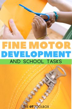 There are so many fine motor skills needed at school! This guide outlines fine motor tasks which may impact learning and what to do to help. Motor Skills Activities, Movement Activities, Gross Motor Skills, Learning Activities, Activities For Kids, Language Activities, Physical Activities, Calming Activities, Therapy Activities
