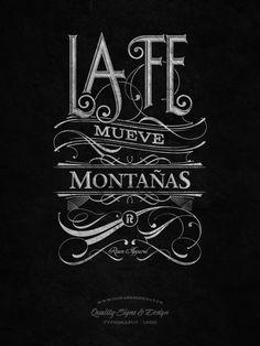 la fe mueve montañas - tshirt for Risen Apparel :) tomaszbiernat.us