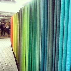 #neocon2013 tangerine to chartreuse to teal ... all big colors this year