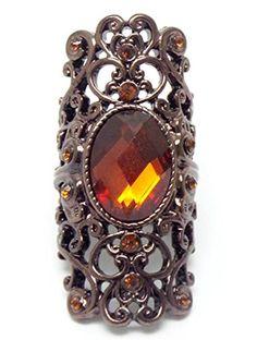 Art Deco Stretch Ring C30 Faceted Dark Amber Crystal Brown Long Recyclebabe Rings http://www.amazon.com/dp/B015P10X14/ref=cm_sw_r_pi_dp_6CDawb0NRT187