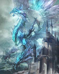 Read ~ficha del personaje ~ from the story El dragon turquesa (akatsuki no yona x tu ) by xxnaruchanxx (xxnaru-chanxx) with 265 reads. Fantasy Kunst, Dark Fantasy Art, Fantasy Artwork, Fantasy World, Mythical Creatures Art, Mythological Creatures, Magical Creatures, Ice Dragon, Dragon Ring