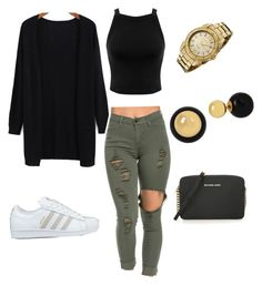 """Untitled #68"" by jadechanteon on Polyvore featuring Miss Selfridge, adidas, Invicta, Betsey Johnson and MICHAEL Michael Kors"