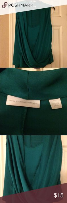 Emerald Green Dressy Top Size XL New York & Co. Silky, shiny material. A little too jazzy for my work but in excellent condition. Re-posh. New York & Company Tops Blouses