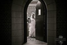 leaving the bride's room to walk to the sanctuary