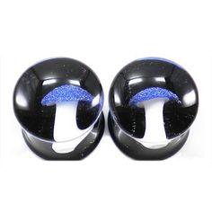 Amazon.com: Blue Amanita Mushroom Double Flared Glass Plug - 4G - Sold as A Pair - Each Mushroom is Handmade Each One is Unique: Jewelry