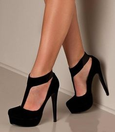 Shop Trendy T-Strap Platform Stiletto Heels Pumps on sale at Tidestore with trendy design and good price. Come and find more fashion Pumps here. Cute Shoes, Me Too Shoes, Awesome Shoes, Pretty Shoes, Black High Heels, Black Prom Shoes, Black Closed Toe Heels, Crazy High Heels, Black Stilettos
