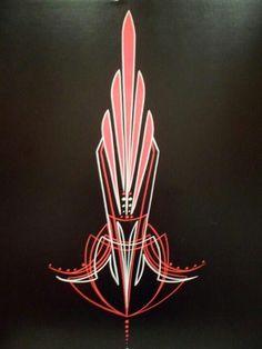 Pin striping A Car Painting, Sign Painting, Pinstripe Art, Pinstriping Designs, Helmet Paint, Custom Airbrushing, Architecture Tattoo, Custom Paint Jobs, Tatoo Art