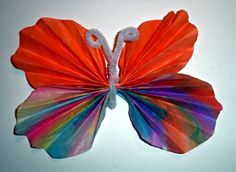 """Coffee filter butterfly - Possible """"Very Hungry Caterpillar"""" Craft"""