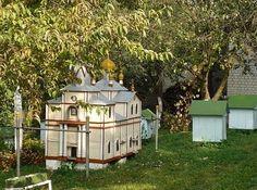 Ukrainian hive shaped like a church. Now that's a hive!