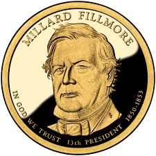 Fillmore was elected to the New York state legislature in 1828 on the Anti-Masonic ticket, which, as its name suggests, strongly opposed Freemasonry. Millard Fillmore, Foreign Coins, In God We Trust, Freemasonry, Our President, Gold Coins, American History, Presidents, Motto