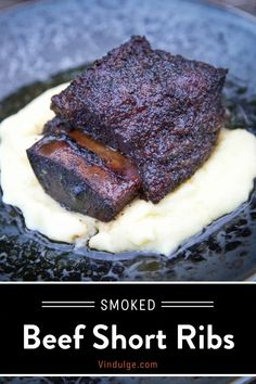 Best Beef Recipes, Traeger Recipes, Easy Homemade Recipes, Grilled Recipes, Smoked Beef Short Ribs, Fire Cooking, Cooking Tips, Smoking Recipes, Food Dishes