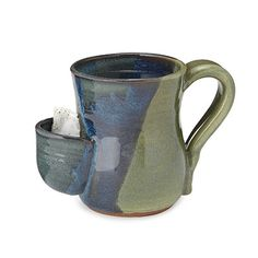A handmade solution for those dripping tea bags! | Tea Bag Pocket Mug | $34 | UncommonGoods