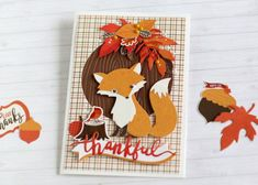 """Fall Card Set by Anya Lunchenko featuring the """"Celebrate Autumn"""" collection by #EchoParkPaper"""