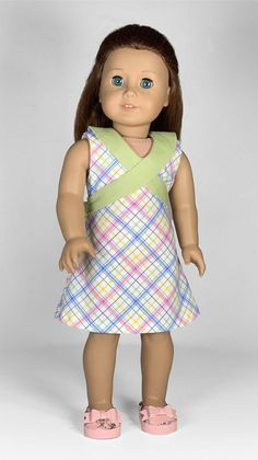 Doll Dress Patterns, Doll Sewing Patterns, Clothing Patterns, Girl Doll Clothes, Girl Dolls, 18 Inch Doll, Sewing For Kids, American Girl, Nice Dresses