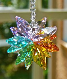 Lexi Long 9 Swarovski Crystal Suncatcher by HeartstringsByMorgan, $25.00