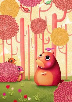 Cute pink creatures