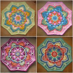 Persian Tile Blanket by Jane Crowfoot Amazing Blankets The main motif (octagon) in different beautiful colors . Crochet Mandala Pattern, Granny Square Crochet Pattern, Crochet Blocks, Crochet Stitches Patterns, Crochet Squares, Crochet Granny, Knit Crochet, Free Crochet, Crochet Afghans
