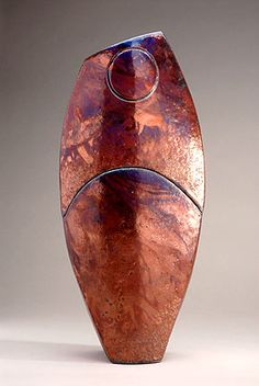 Ceramics by Shaun Hall at Studiopottery.co.uk - 2008. Copper form.