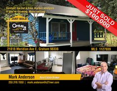 NOW #SOLD  Congrats to Mark Anderson and to the new owners of under 3/4 acre lot off Meridian, this charming little house has a lot of history and boasts a large land area with many opportunities in #Graham  MLS # 1127939
