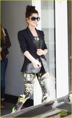 Emma (Cheryl Cole) stepping out into the L.A sunshine after a busy morning of meetings. Loving the blazer and trousers.