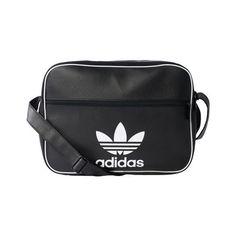 503540f3d9 adidas Originals AIRLINER AC CL Navy Black Shoulder Bag Trefoil Sport BK2117