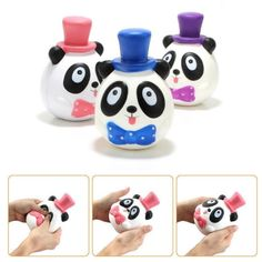 1PC 14CM Jumbo Panda Cake Squishy Charm Soft Slow Rising Mobile Phone Accessories Toy
