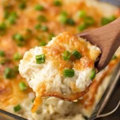 Cheesy Baked Orzo is creamy and cheesy, with parmesan and a touch of garlic. simplyhappyfoodie.com
