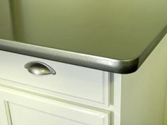 Can't afford a kitchen makeover? Paint it! Thomas' Liquid Stainless Steel can be used on appliances, faucets and countertops. The water-based resin is stainless steel in liquid form, and it provides a brushed-stainless look that is as durable as an automotive-grade finish. 8 Things You Didn't Know You Could Paint : DIY Network