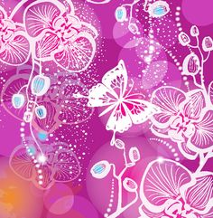 Gorgeous pattern background 01 - vector material