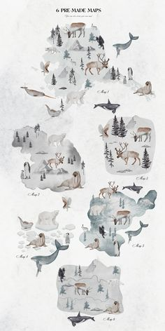 Watercolor winter collection by Natdzho on @creativemarket