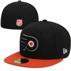 New Era Philadelphia Flyers 2-Tone 59FIFTY Fitted Hat - Black Orange f1bd054961a8