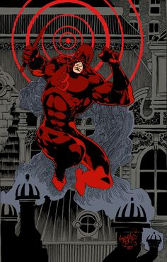 Daredevil by Kelley Jones, colours by Gerry Turnbull