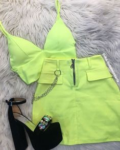 Best Teen Fashion Part 9 Neon Outfits, Teenage Outfits, Punk Outfits, Tumblr Outfits, Cute Casual Outfits, Teen Fashion Outfits, Mode Outfits, Look Fashion, Outfits For Teens
