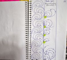 64 Ideas For Free Motion Quilting Borders Sketch Books 64 Ideas For Free Motion Quilting Borders Sketch Books Quilting Stencils, Longarm Quilting, Free Motion Quilting, Machine Quilting Patterns, Quilt Patterns, Quilting Tutorials, Quilting Projects, Quilting Ideas, Arte Mehndi