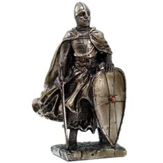 Resting Crusader Knight Statue for table decorations