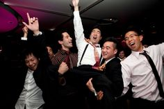 Love it when the Groom and his boys get down at a wedding.  Canoe Toronto.