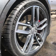 Andy chose the MICHELIN® Pilot® Sport 4 S tires with a Limited Edition Premium Touch sidewalls for his Audi Besides sticking to the road like glue, the velvety laser-etched sidewall design looks great too! West Bridgewater, Michelin Man, Tyre Shop, Auto Service, Tired, Pilot, Audi, Touch, Sport