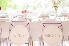 Bride and groom. Table numbers by Event Signage, Event Styling, Table Numbers, Event Design, Bride Groom, Wedding Styles, Stationery, Markers, Weddings